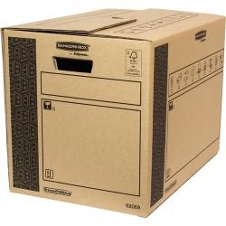 Fellowes - 6206902 empaque Caja de cartn para envos Negro Marrn 1 piezas