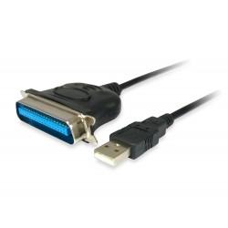 Equip - 133383 adaptador de cable USB 20 IEEE1284 Negro