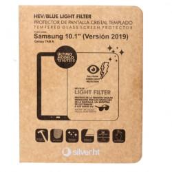 SilverHT - Protector cristal templado para Samsung TAB A 2019 T510/T515 Blue Light